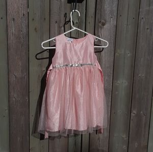 Size 5 little girls pink sparkles party dress